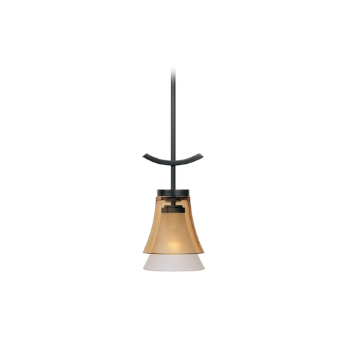Designers Fountain Lighting Mini-Pendant Light with Beige / Cream Glass 83130-ORB