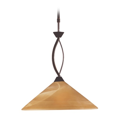 Elk Lighting Elk Lighting Elysburg Aged Bronze LED Pendant Light with Conical Shade 6550/1-LED