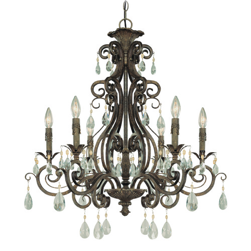 Jeremiah Lighting Jeremiah Englewood French Roast Crystal Chandelier 25626-FR