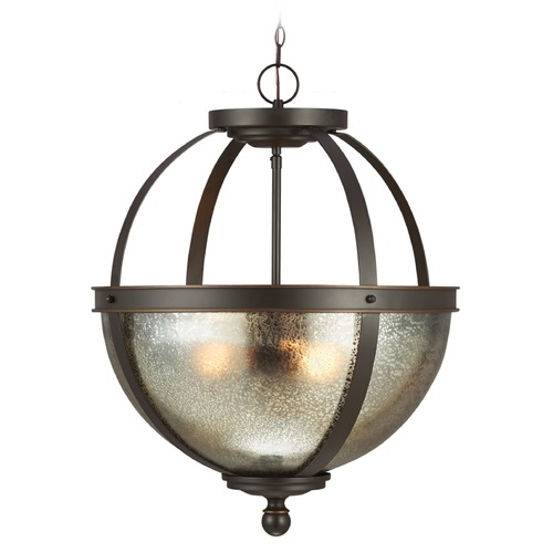 Sea Gull Lighting Mercury Glass Pendant Light Bronze Sea Gull Lighting 6610403-715