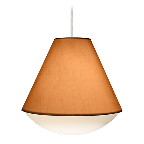 Besa Lighting Besa Lighting Reflex Satin Nickel LED Pendant Light with Empire Shade 1JT-RFLXGO-LED-SN