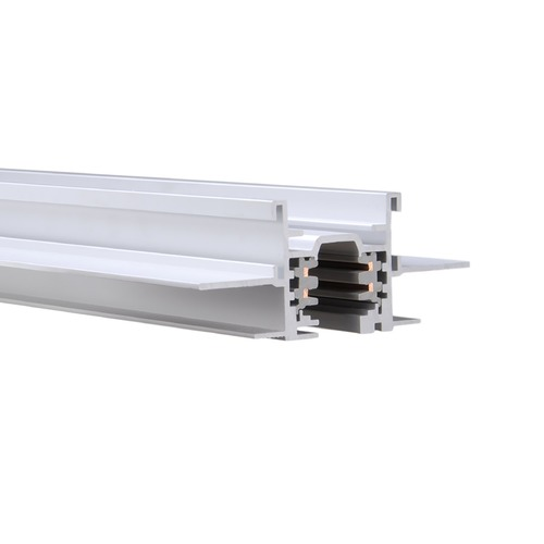 WAC Lighting Wac Lighting W Track White Rail, Cable, Track Accessory WT12-RTL-WT