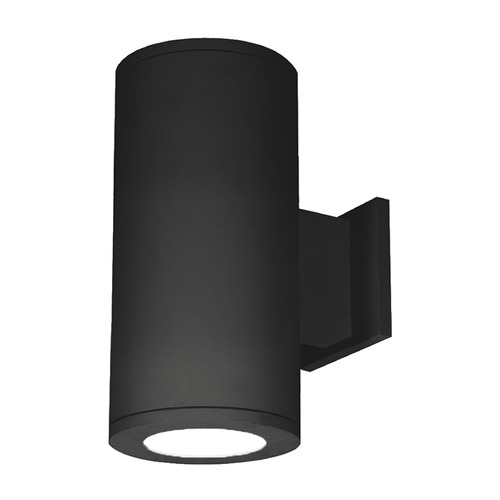 WAC Lighting 5-Inch Black LED Tube Architectural Up and Down Wall Light 2700K 3700LM DS-WD05-F927S-BK