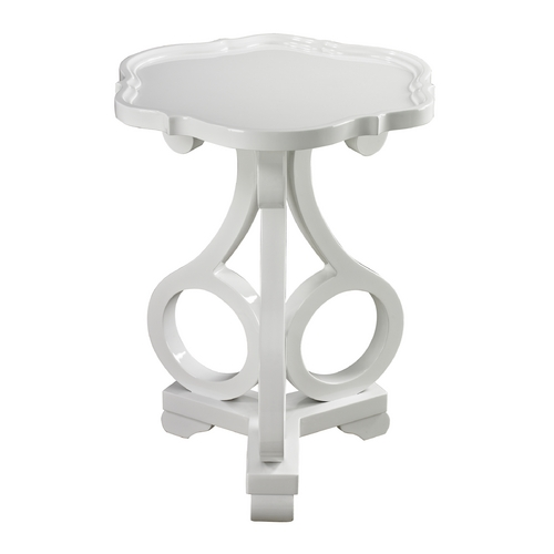 Sterling Lighting Sterling Lighting Gloss White Accent Table 136-003