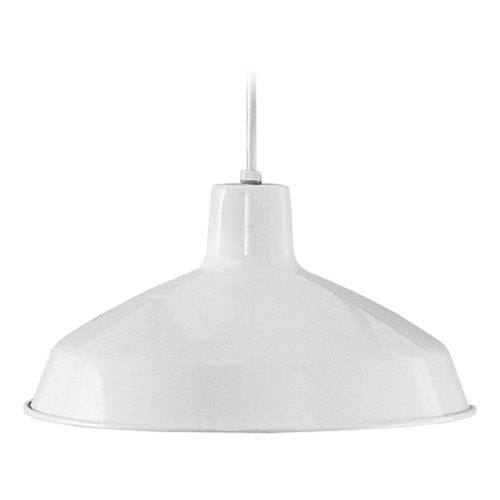 Progress Lighting Progress Lighting Metal Shade White LED Pendant Light with Bowl / Dome Shade P5094-3030K9