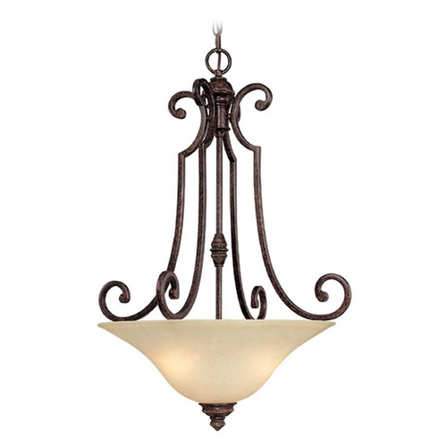 Capital Lighting Capital Lighting Barclay Chesterfield Brown Pendant Light with Bowl / Dome Shade 3584CB