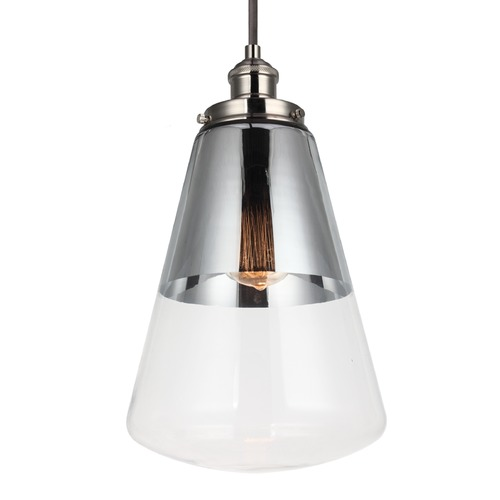 Feiss Lighting Feiss Waveform Polished Nickel Mini-Pendant Light P1373PN