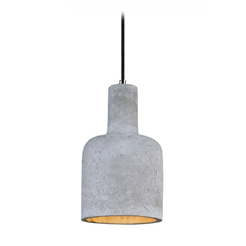 Maxim Lighting Maxim Lighting Crete Polished Chrome LED Mini-Pendant Light with Cylindrical Shade 12395GYPC
