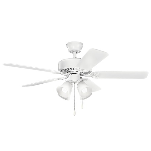Kichler Lighting Kichler Lighting Renew Premier Matte White Ceiling Fan with Light 339240MWH
