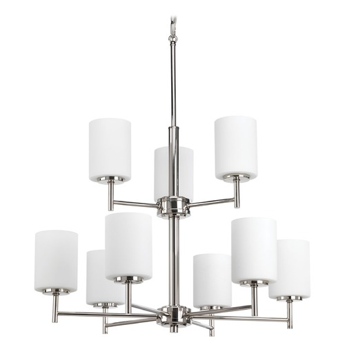 Progress Lighting Progress Lighting Replay Polished Nickel Chandelier P4726-104