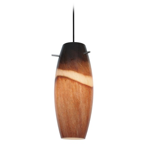 Access Lighting Access Lighting Cabernet Oil Rubbed Bronze LED Mini-Pendant Light with Oblong Shade 28024-3C-ORB/AMS