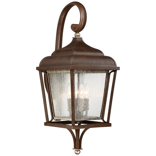 Minka Lavery Minka Astrapia Dark Rubbed Sienna with Aged Silver Outdoor Wall Light 72543-593