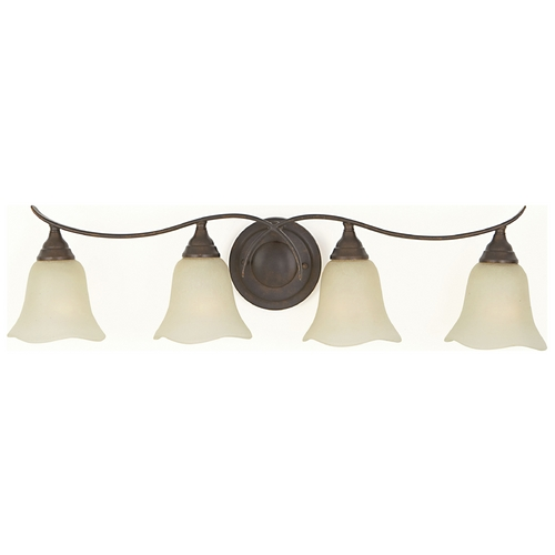 Feiss Lighting Bathroom Light with Beige / Cream Glass in Grecian Bronze Finish VS10604-GBZ