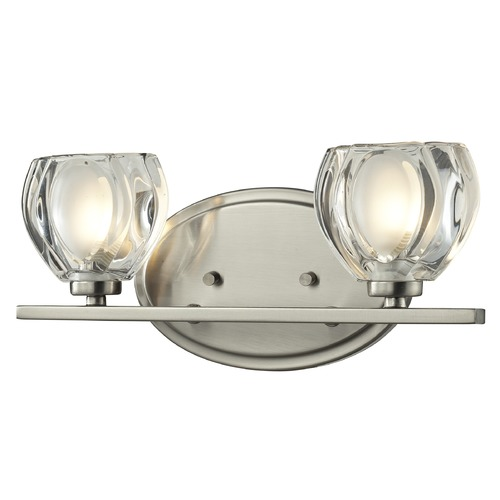 Z-Lite Z-Lite Hale Brushed Nickel Bathroom Light 3022-2V