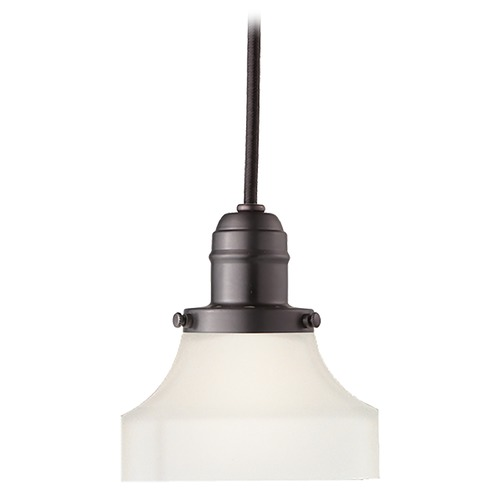 Hudson Valley Lighting Mini-Pendant Light with White Glass 3101-OB-226