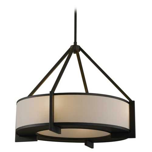 Feiss Lighting Modern Drum Pendant Lights in Oil Rubbed Bronze Finish P1152ORB