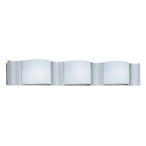 Designers Fountain Lighting Modern Bathroom Light with White Glass in Silver Sand Finish 4563-SI