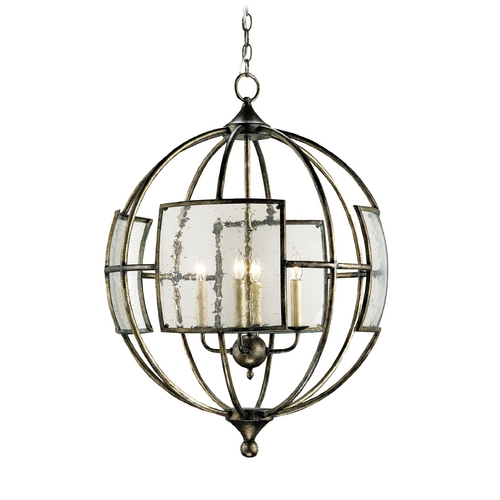 Currey and Company Lighting Pendant Light in Pyrite Bronze Finish 9750