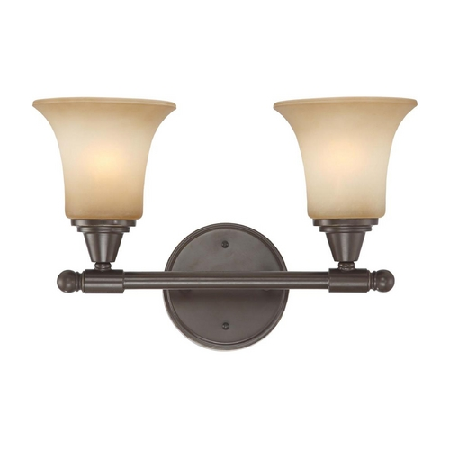 Nuvo Lighting Modern Bathroom Light with Beige / Cream Glass in Vintage Bronze Finish 60/4162