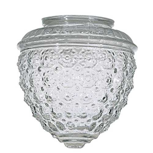 Satco Lighting Clear Pineapple Glass Shade - 3-1/4-Inch Fitter Opening 50-112