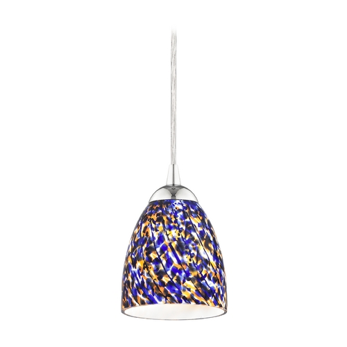 Design Classics Lighting Modern Mini-Pendant Light 582-26 GL1009MB