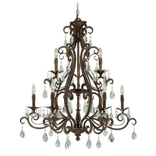 Craftmade Lighting Craftmade Englewood French Roast Crystal Chandelier 25629-FR