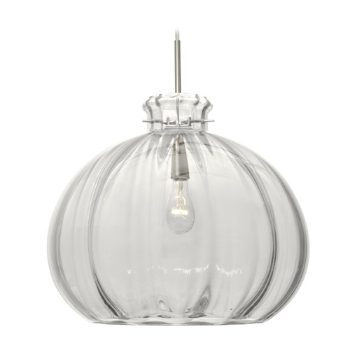 Besa Lighting Besa Lighting Pinta Satin Nickel Pendant Light with Bowl / Dome Shade 1JT-464588-SN