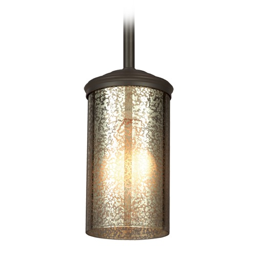 Sea Gull Lighting Mercury Glass Mini-Pendant Light Bronze Sea Gull Lighting 6110401-715
