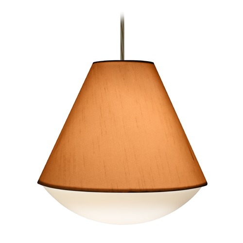 Besa Lighting Besa Lighting Reflex Bronze LED Pendant Light with Empire Shade 1JT-RFLXGO-LED-BR