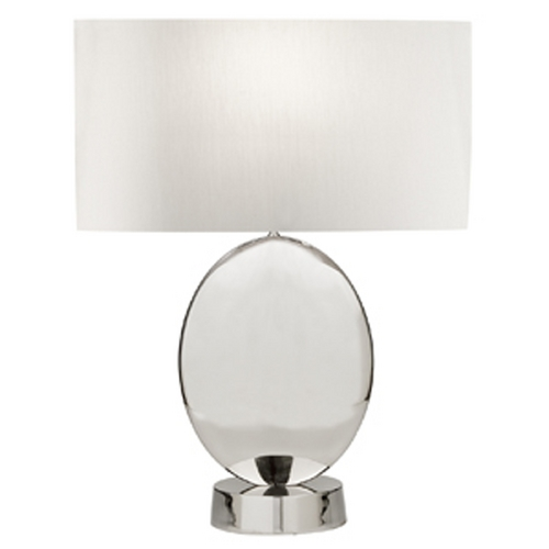 Fine Art Lamps Fine Art Lamps Grosvenor Square Polished Nickel Table Lamp with Drum Shade 826010ST