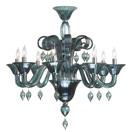 Cyan Design Cyan Design Treviso Chrome with Indigo Smoke Chandelier 6495-08-14 00:00:00