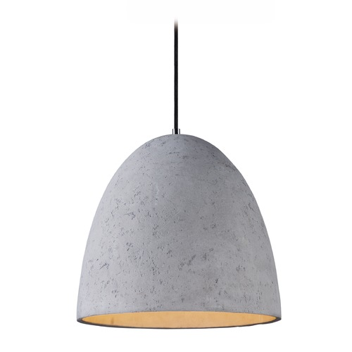 Maxim Lighting Maxim Lighting Crete Polished Chrome LED Pendant Light with Bowl / Dome Shade 12396GYPC