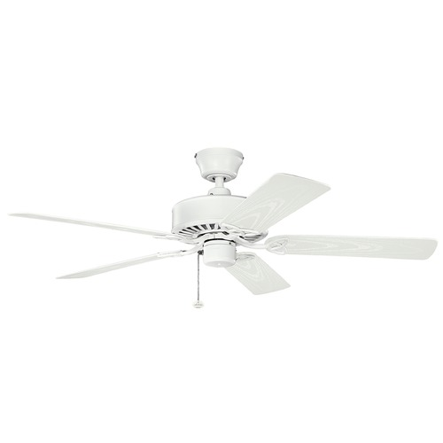 Kichler Lighting Kichler Lighting Renew Patio Matte White Ceiling Fan Without Light 339515MWH