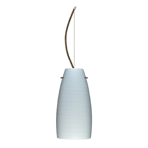 Besa Lighting Besa Lighting Tao Bronze LED Mini-Pendant Light with Oblong Shade 1KX-1512KR-LED-BR