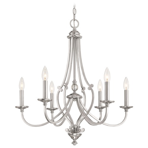 Minka Lavery Minka Savannah Row Brushed Nickel Chandelier 3336-84
