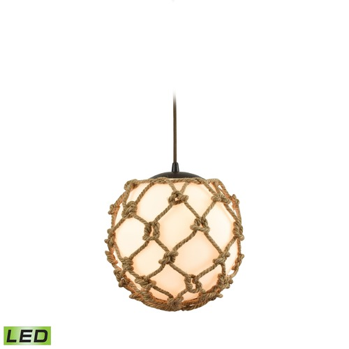 Elk Lighting Elk Lighting Coastal Inlet Oil Rubbed Bronze LED Pendant Light with Globe Shade 10710/1-LED