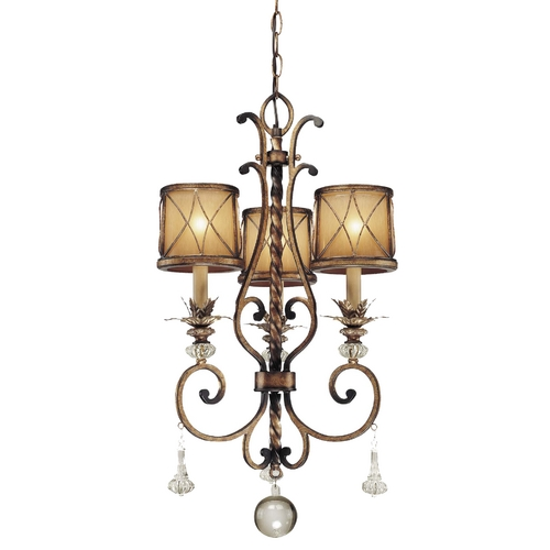 Minka Lavery Chandelier with Beige / Cream Glass in Aston Court Bronze Finish 4753-206