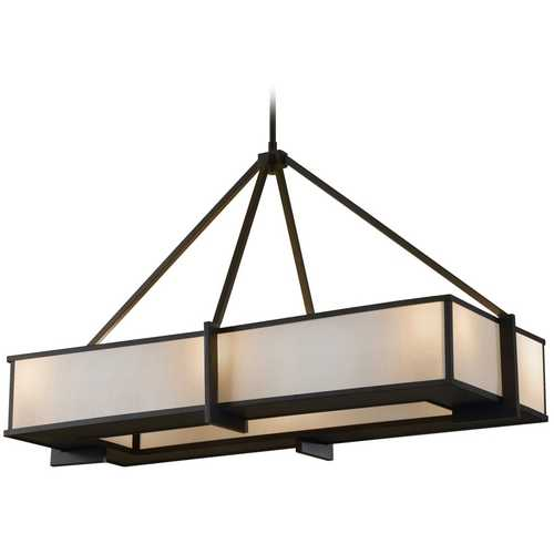 Feiss Lighting Modern Pendant Lights in Oil Rubbed Bronze Finish F2400/6ORB