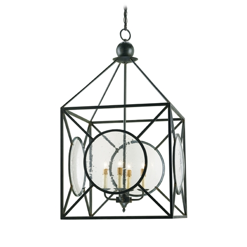 Currey and Company Lighting Pendant Light in Old Iron Finish 9748