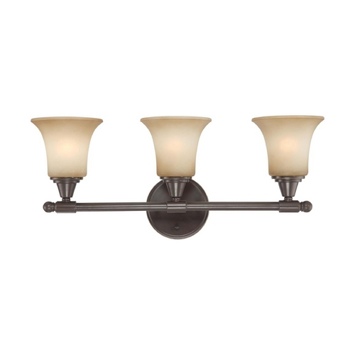 Nuvo Lighting Modern Bathroom Light with Beige / Cream Glass in Vintage Bronze Finish 60/4163