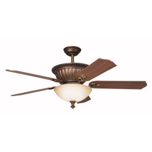 Kichler Lighting Kichler 52-Inch Bronze Ceiling Fan with Downlight 300012TZG