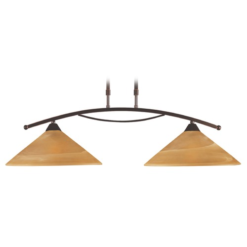 Elk Lighting Elk Lighting Elysburg Aged Bronze LED Island Light with Conical Shade 6551/2-LED