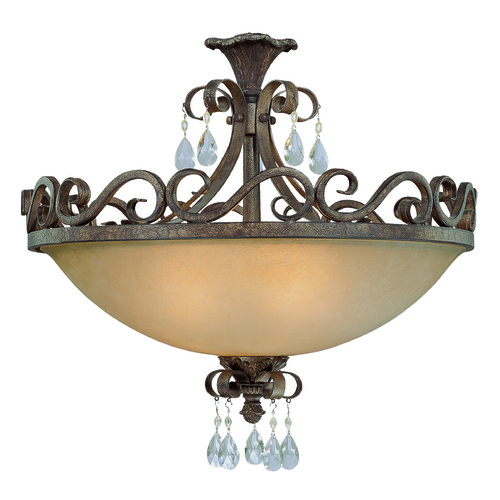 Craftmade Lighting Craftmade Englewood French Roast Semi-Flushmount Light 25634-FR