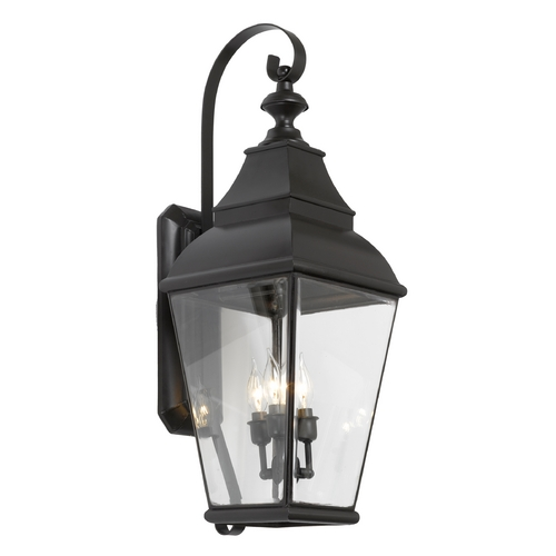 Elk Lighting Outdoor Wall Light with Clear Glass in Charcoal Finish 5216-C