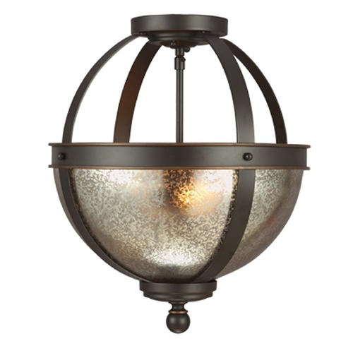 Sea Gull Lighting Mercury Glass Semi-Flushmount Light Bronze Sea Gull Lighting 7710402-715