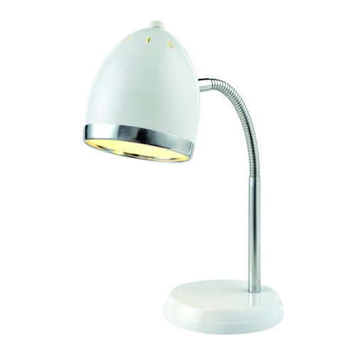 Lite Source Lighting Lite Source Lighting Zachary White / Chrome Desk Lamp LS-22311WHT