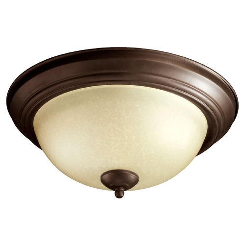 Quorum Lighting Quorum Lighting Oiled Bronze Flushmount Light 3073-13-86