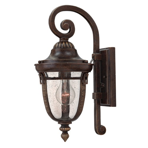 Hinkley Lighting Seeded Glass Outdoor Wall Light Bronze Hinkley Lighting 2900RB-GU24