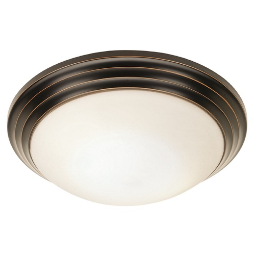 Access Lighting Access Lighting Strata Oil Rubbed Bronze LED Flushmount Light 20651LEDD-ORB/OPL