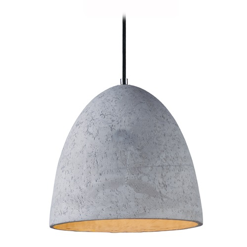 Maxim Lighting Maxim Lighting Crete Polished Chrome LED Pendant Light 12397GYPC